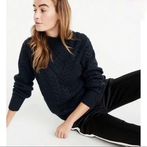 Abercrombie Cable Mock Neck Sweater Size S